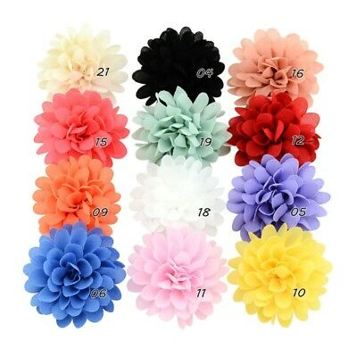 12PCS Girls Baby Bows Chiffon Flower Hair Clip Girls Toddler Babies Hairpin