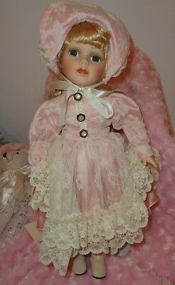 Beautiful Vintage Doll On Stand By Copperart