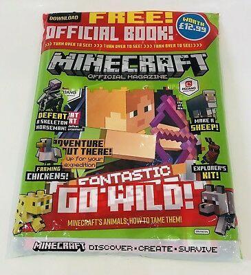 MINECRAFT OFFICIAL MAGAZINE #17 With OFFICIAL BOOK WORTH £12.99 (NEW)