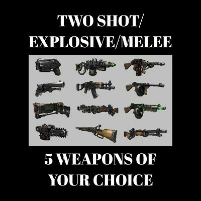 Fallout 76 | Two Shot+Explosive+Melee X5 | Weapons Pack | Read Description | PC