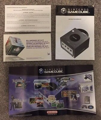GAMECUBE CONSOLE ORIGINAL UK MANUAL + INSERTS - Nintendo Gamecube.
