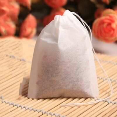 100/200x Empty Teabags String Heat Seal Filter Paper Herb Loose Tea Bags LA