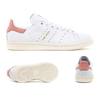 WOMENS ADIDAS STAN Smith Gs Trainers White White Bold Pink Trainers ... ebfaa93ae86a