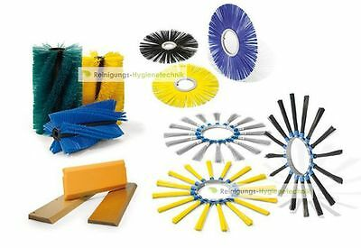 Sweeper Brushes Set Kersten Series 1450 - Poly 2x3 mm / Corrugated Wire Crimped