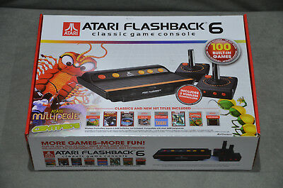 Atari Flashback 6 Classic Game Console 100 Built-in Games 2 Wireless Controllers