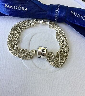 6b5ab4698 Authentic Genuine Pandora Silver Multi Chain Clip Station Bracelet 15cm # 591701