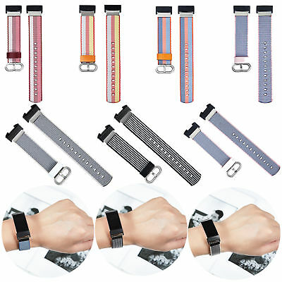 Colorful Nylon Woven Fabric Wristband Strap Watch Band for Fitbit Charge 2