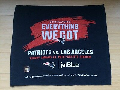 New England Patriots vs LA Chargers January 13, 2019 Playoff Rally Towel