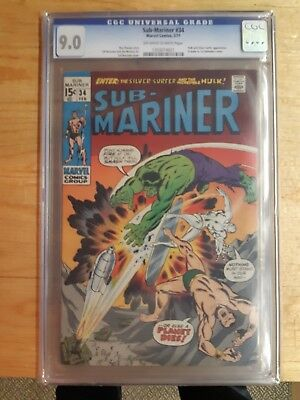 Sub-Mariner #34 CGC Graded 9.0 Prelude to The Defenders first appearance