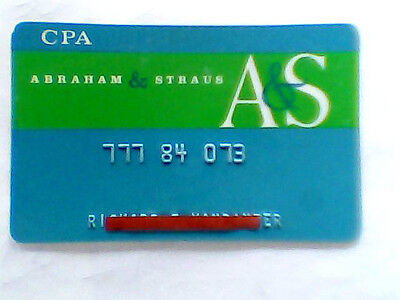 A&S Abraham & Straus VINTAGE CREDIT / CHARGE CARD read more - shipSfast - #3632