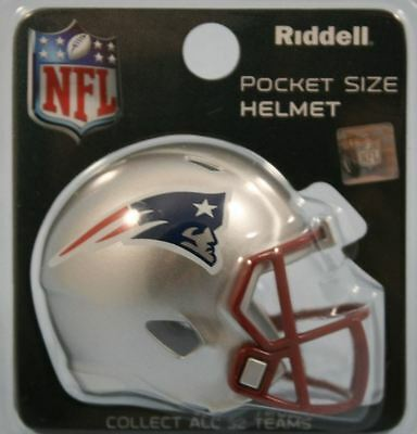 New England Patriots Nfl Riddell Speed Pocket Pro Helmet