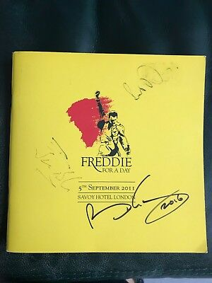 Brian May Signed Queen Autograph Freddie Mercury for a Day Birthday Booklet