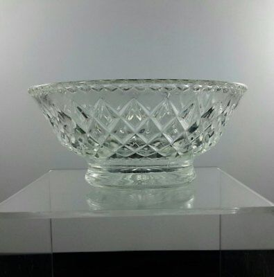 Pretty Vintage Glass Trinket Sweets Candy Dish Diamond Pattern