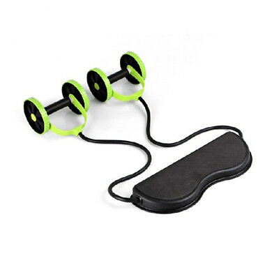 Abdominal Power Roll Double Wheel Fitness Exerciser Trainer Waist Slimming Core