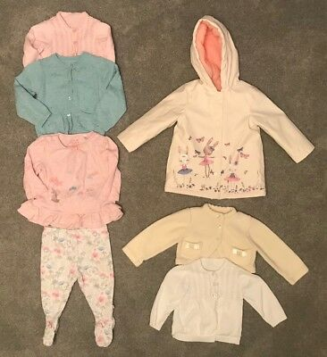 Baby Clothes Cardigans Bundle Girls 6-9 Months Leggings Coat Top Mothercare F&F