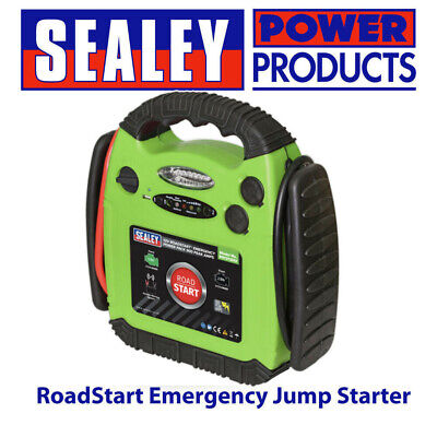 Sealey RS1312HV RoadStart Emergency Jump Starter inc Air Compressor 12V 900 Amps