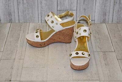 05a34886aa3c IVANKA TRUMP GITTY Studded Leather Platform Wedge Sandals