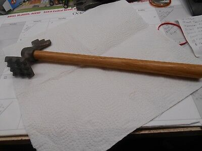 Vintage Meat Tenderizer ,Hammer, Two Sided ,Mallet ,Wood Handle