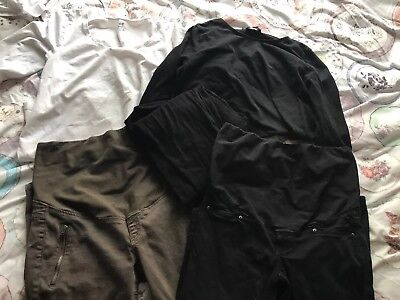 Maternity clothes size 12 bundle Jeans Tops Leggings H&M & NEW LOOK