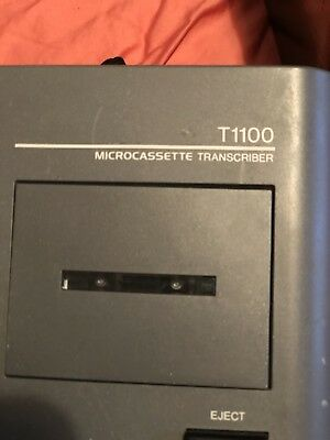 Olympus PearlCorder T1100 Dictation Transcriber Machine with Foot Control