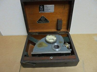 hilger and watts 90 degree clinometer in wooden box