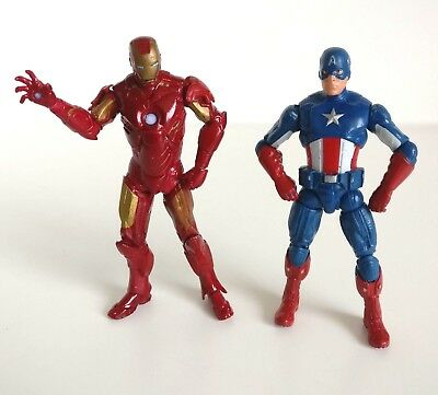 "Marvel Universe Action Figure 3.75"" Captain America Set Iron Man And Cap"
