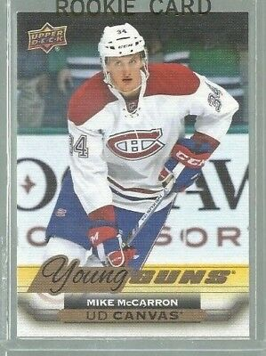 2015-16 Upper Deck Canvas #C230 Mike McCarron YG (ref43691)