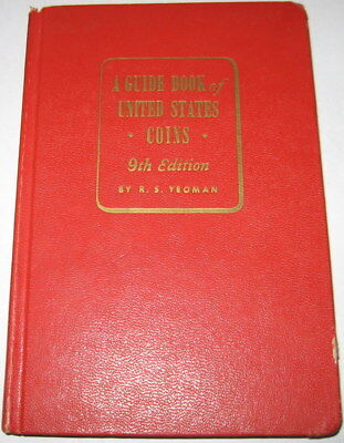 "1956 GUIDE BOOK OF UNITED STATES COINS  9th  EDITION ""REDBOOK""  BY R.S. YEOMAN"