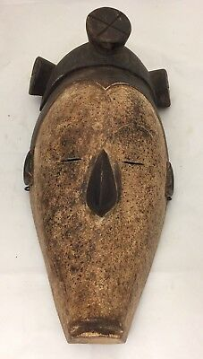 Ngil Fang African Tribal Ceremonial Mask Guinea Gabon Mid 20Th C. Vintage