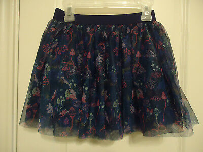 NWT GYMBOREE Size M (7-8)  MUSHROOM SKIRT Tulle Lined Blues Pinks Other