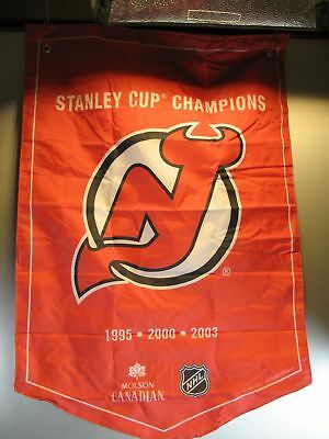 New Jersey Devils Molson Canadian Stanley Cup Champions Banner