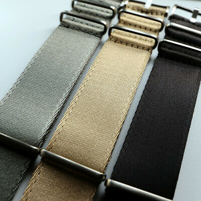 SALE Slim Seatbelt NATO MilSpec Nylon Strap 1.2mm Thick Grey Khaki