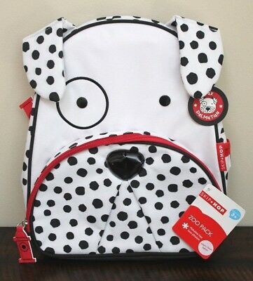 "NEW Skip Hop TODDLER DALMATIAN BACKPACK Insulated Adjustable Puppy Dog 12"" Bag"