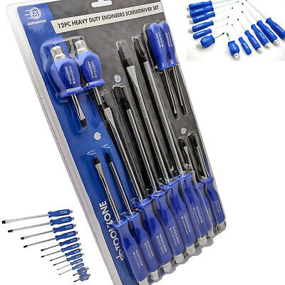 Screwdriver Set with Hex Drive & Hammer Heads/ Slotted & Pozidrive Magnetic tips