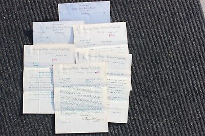 6 Vintage letters - Allegheny Valley Railroad Co -  Pittsburgh, 1882 to 1896