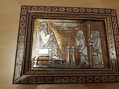 khatam wood inlay persian picture frame