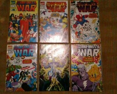 Infinity War 1-6 (Marvel, 1992) NM autograph Ron Lim