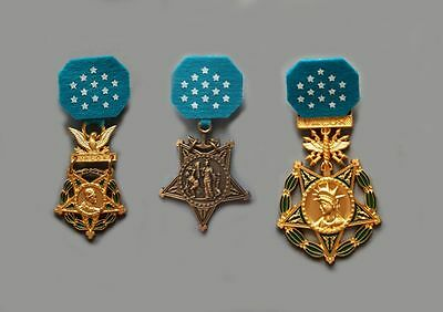 US Army - Navy - Air Force MEDAL OF HONOR - MINI Medals