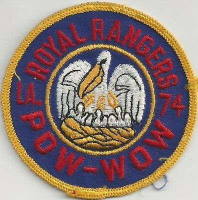 1974 Royal Rangers Louisiana DIstrict Pow Wow Patch