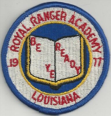 1977 Royal Rangers Louisiana District Royal Ranger Academy Patch
