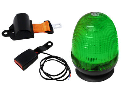 Seat Belt and Standard Magnetic Beacon with Green Lens
