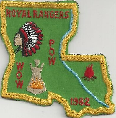 1982 Royal Rangers Louisiana District Pow Wow Patch