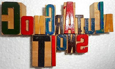 'Congratulations' Letterpress Wood Type Used Hand Crafted Made In India B1001