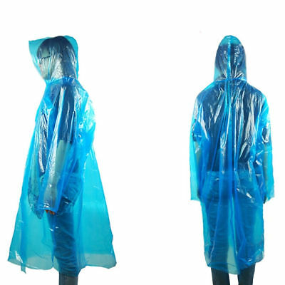 Disposable Adult Emergency Waterproof Rain Coat Poncho Hiking Camping Fishing