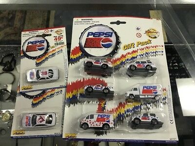 1997 GOLDEN WHEEL DIECAST PEPSI COLA CARS,TRUCKS NIP Lot Soda Pop