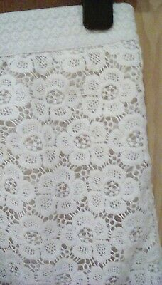 Girls cream crocheted shorts aged 10 years from Monsoon