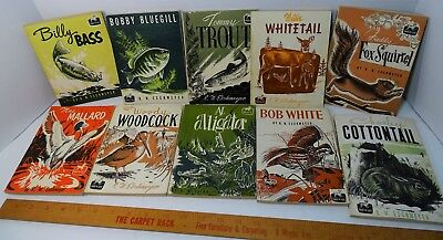RARE Complete Set - 10 Wildlife Books by R.W. Eschmeyer 1953 Tommy Trout Billy e