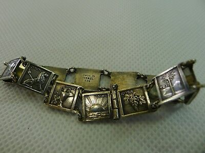 rare & beautiful silver 935 bangle / bracelet of the 12 ancient tribes of Israel