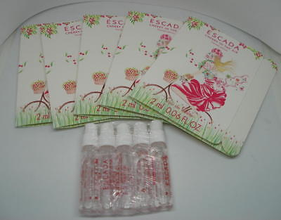 Lot De 5 Echantillons Escada Cherry In The Air  Eau De Toilette 02 Ml - Tigettes
