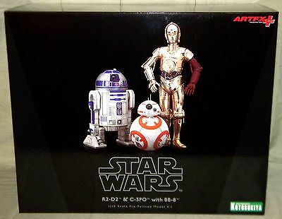R2-D2, C-3PO, & BB-8 ARTFX STATUE 3-PACK Star Wars Force Awakens Kotobukiya